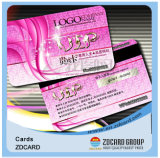Il PVC della banda delle schede magnetiche carda gli Smart Card