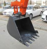 Mini máquinas escavadoras vermelhas 5.5ton da esteira rolante com a cubeta 0.2cbm