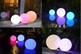 Luz al aire libre a todo color de la bola del RGB LED de la batería recargable para el partido, la Navidad