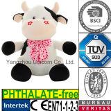 Le rose doux de broderie de peluche de la CE Stars le jouet de peluche de vache