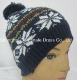 ポンポン(HJB013)が付いている熱い販売の方法ジャカード帽子の帽子