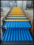 Mattonelle di tetto d'acciaio di doppio strato C8/C21 che formano il fornitore del Hebei della macchina