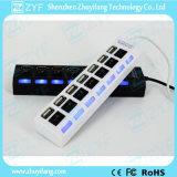 Независимо переключатели и эпицентр деятельности 2.0 USB СИД 7 Port (ZYF4228)