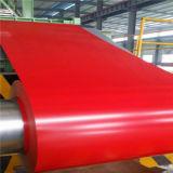 Le matériau de construction PPGL PPGI a enduit la bobine d'une première couche de peinture en acier galvanisée enduite par couleur