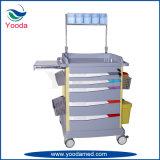 Chariot à hôpital d'anesthésie de fourniture médicale d'ABS