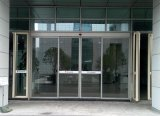 Portas deslizantes de vidro automáticas resistentes