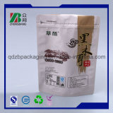 Sacos plásticos do empacotamento de alimento do malote de pé com Zipper