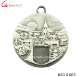 Античное серебряное медаль сувенира 3D (LM1029)