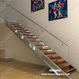 형식 세로 침목 스테인리스 유리 계단