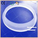 Parede grossa redonda de alta temperatura anel lustrado do vidro de silicone fundido