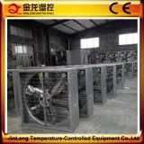 Ventilador de refrigeração de Jinlong com o obturador centrífugo para aves domésticas e a casa verde