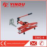 손에 의하여 운영하는 유압 관 구부리는 기계 (SWG-4)