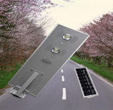 Luces de calle cargadas solares del LED, luz de calle solar integrada de la fuente de la energía solar 70W, luz de calle solar 12V/24V