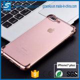 Caja a prueba de choques suave del teléfono de TPU Electropalting para el iPhone 6/6s