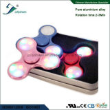 다채로운 LED 빛을%s 가진 손 방적공 장난감의 최고 최신 판매 세 배 잎 Matel