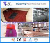 Cadena de producción de la alfombra/de la estera del coche de bobina del PVC, máquina del estirador del rodillo de la estera del PVC