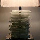 Listones clásicos de la resina natural e iluminación blanca del vector de la cortina de la tela con el enchufe de potencia