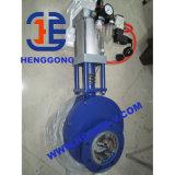 Válvula de puerta de cerámica neumática del disco doble del estruendo