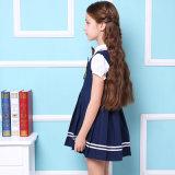 Alineada azul/roja del uniforme escolar primario de las muchachas de la manera