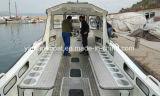 Bateau en aluminium de plongée avec la cabine
