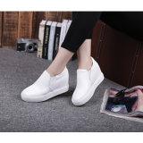 2017 новых ботинок способа, белые кожаный ботинки, тапка женщин, No типа: Вскользь ботинки