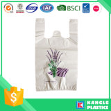Il sacchetto di plastica durevole della maglietta di vendita calda con voi possiede il marchio