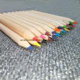 3.5 Zoll-hölzernes geschärftes Förderung-Kind-Farben-Bleistift-Set