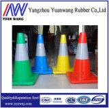 Flexible Gummi Wasser-Stoppen LED-faltenden Straßen-Kegel