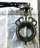 Tipo válvula da bolacha do projeto da DK de borboleta com operador da alavanca