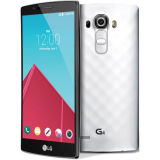 元の携帯電話G4の黒い革スマートな電話