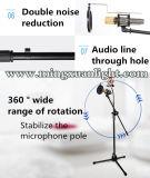Basamento registrabile del microfono della fase del treppiedi professionale di prestazione
