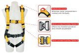 Polyester industriale Work Safety Pieno-Body Harness Belt con CE Approved