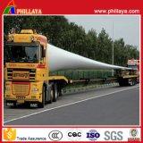 Rimorchio idraulico di guida della strumentazione di trasporto del foglio allungabile di energia eolica