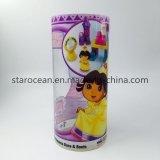 Cilindro de PVC cajas de embalaje de juguetes con Impresión