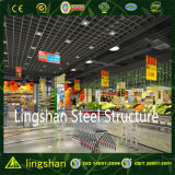 Здание конструкции супермаркета стальной структуры ISO полуфабрикат светлое
