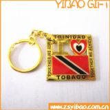 주문 로고 (YB-MK-05)를 가진 금 금속 열쇠 고리