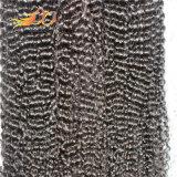 Weave natural malaio Kinky do cabelo da cor do cabelo humano do Virgin da onda 8A