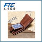 Carpeta de cuero de los hombres de negocios de la PU con el bolsillo de la moneda con magnético