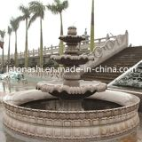 SGS를 가진 Marble 백색 Stone Carved Water 정원/Backyard Fountains
