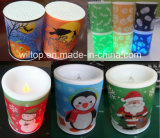 El día de fiesta plástico LED enciende para arriba las velas (LP007)