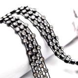 Colar preta de cristal transparente do Choker do fio para mulheres