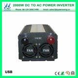инвертор солнечной силы автомобиля 12V/24V/48V 2000W (QW-M2000)