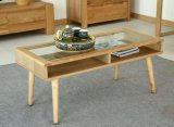 Mesa de madeira de cinza sólido Mesa de moda moderna de sala de estar (M-X2040)