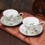 Belle coupe de café en céramique et soucoupe Coupe de porcelaine Coupe en os de Chine