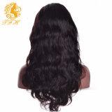 Frente del cordón brasileño del pelo humano de la peluca del cuerpo Virgen de la onda pelucas de cabello humano con las pelucas del cordón del pelo humano Bangs sin cola completa envío rápido