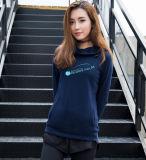 濃紺は印刷を用いるあなた自身のロゴの女性のプルオーバーHoodiesをカスタマイズする