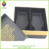 Casella calda del profumo del regalo dell'imballaggio del nero della stagnola di oro di vendita