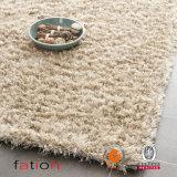 ミラノの毛羽織りハンドメイドの白いポリエステル領域敷物