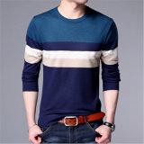 Рубашка Knit одежды людей Striped низкопробная с длинними втулками