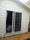 Le glissement de PVC/UPVC/arrêté/a fixé/porte de patio pour la Chambre/villa en bois
